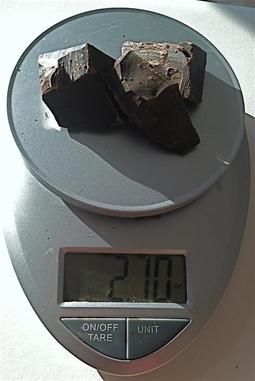 weighing choc